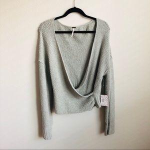 Free People Faux Wrap Sweater